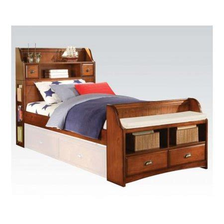 Bookcase Headboard With Drawers by Acme Furniture 11005f Brandon Size Bed With Storage