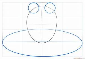 How to draw a frog on lily pad   Step by step Drawing ...