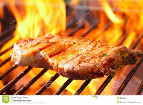steak  grill  flames stock photo image  barbecue