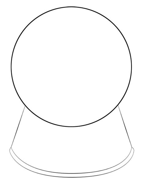 snow globe template snow globe coloring page blank coloring pages