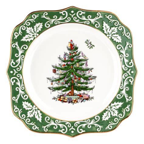 spode christmas tree gold embossed scalloped plate 39 99