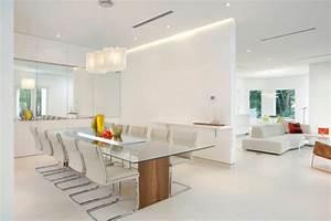 meubles salle a manger 65 idees avec l39eclairage With salle À manger contemporaineavec meuble salle manger moderne