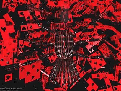 Queen Hearts Wallpapers Wonderland Dark Desktop Screen