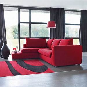 canape rouge la redoute photo 11 15 canape rouge avec With tapis design avec red canapé