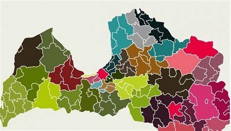 Latvijas jaunā karte ar 35 novadiem | eLiesma