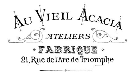 printable image transfer fancy french typography