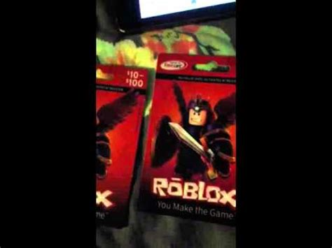 roblox card  youtube