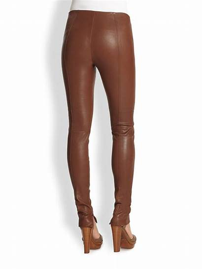 Leggings Leather Brown Ralph Lauren Label Leland