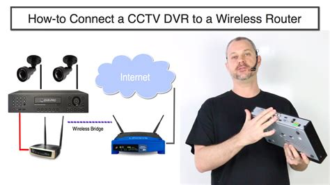 how to connect a cctv dvr to a wireless router youtube