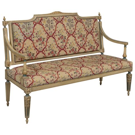 Settee For Sale by Louis Xvi Style Needlepoint Upholstered Settee For Sale At