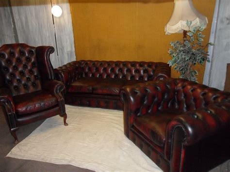 Chesterfield Leather Suite In Plumstead London Gumtree