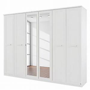 Armoire 6 Portes : armoire 6 portes blanc avec miroir kurik ~ Teatrodelosmanantiales.com Idées de Décoration