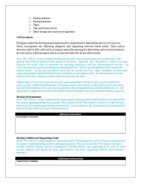 data backup policy template 28 images backup policy
