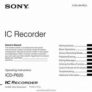 Sony Icd P620
