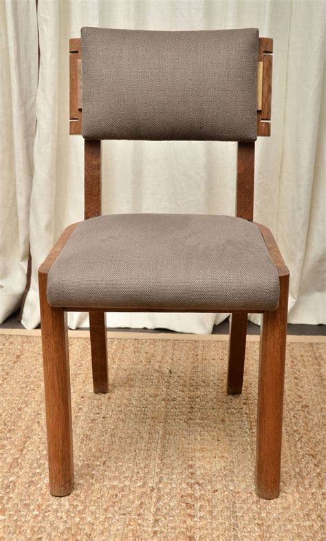 upholstered dining chairs set of 6 set of six upholstered dining chairs by charles dudouyt at