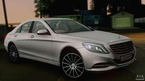 Mercedes BenzCar : Mercedes-benz S500 W222 For Gta San Andreas
