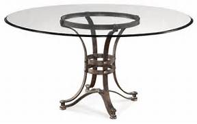 Glass Dining Table 60 Inch by Bassett Mirror Tempe 60 Inch Round Glass Dining Table W Metal Base Industr