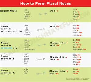 Singular and Plural Noun Rules
