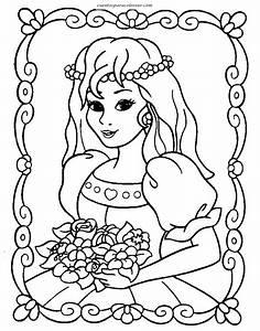 Dibujos para colorear Barbie princesa
