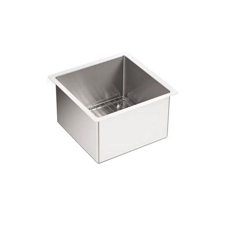stainless steel sink rack kohler strive undermount stainless steel 15 in single
