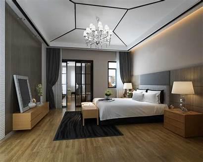 Bedroom Master Modern Luxury Interior Bed Chandelier