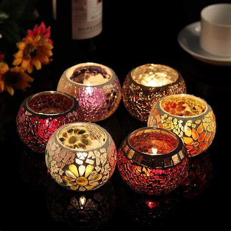 shipping mosaic candle holders decorative