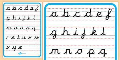 cursive alphabet letter formation poster  case cursive