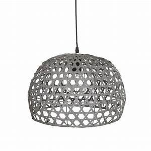 Bambou Noir Prix : lampe suspension bambou 30cm gris ~ Teatrodelosmanantiales.com Idées de Décoration