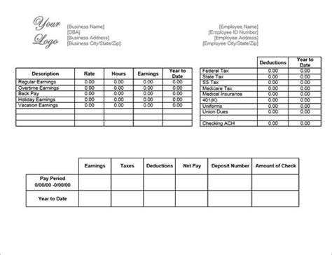contractor paysheet template excel 15 payroll templates pdf word excel free premium