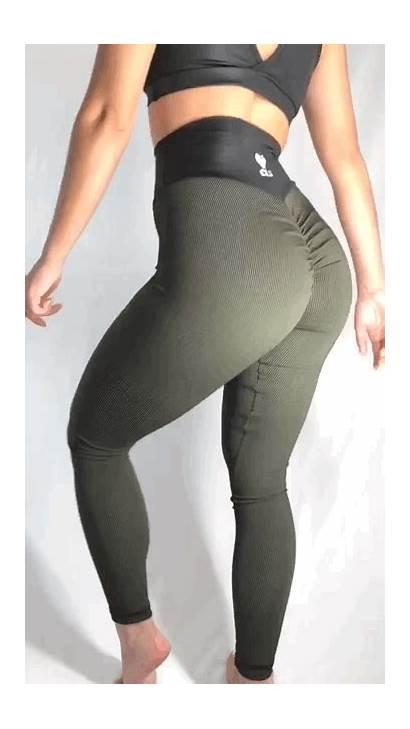 Leggings Yoga Pants Ass Butt Tights Scrunch