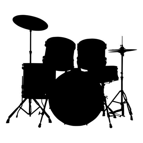 drum silhouette musical instruments kit instrument clipart svg background clip drums transparent vector silhouettes music vexels electronic kits