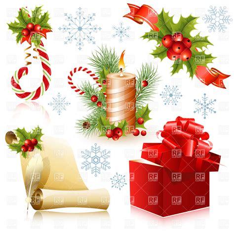 traditional christmas clip set vector set of traditional christmas symbols royalty free vector clip art image 5283 rfclipart