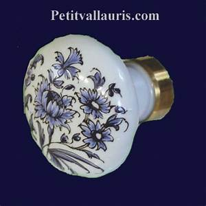 Bouton De Placard : bouton d coratif en porcelaine blanche de tiroir ou de placard au motif fleurs bleues de tradition ~ Teatrodelosmanantiales.com Idées de Décoration