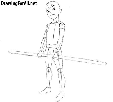 draw avatar aang drawingforallnet