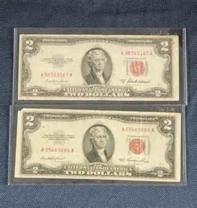 1953 2 Dollar Bill Red Seal Value