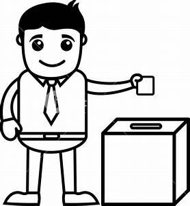 Man Voting - Business Cartoon Character Vector Royalty ...