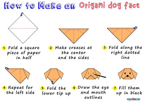 origami dog face coolbkids