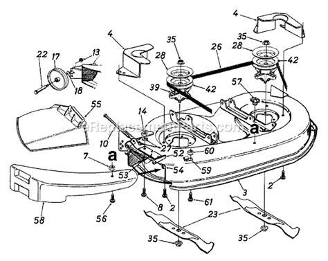 mtd amg parts list  diagram
