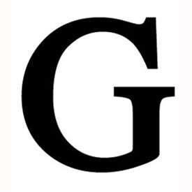 wrought iron letter g