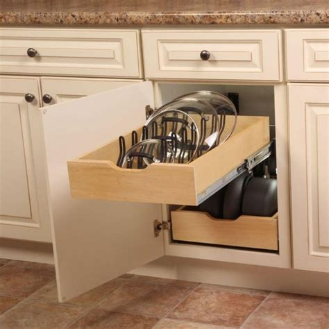 kitchen cabinet pan organizer kitchen pot pan lid holder cabinet pull out drawer 5647