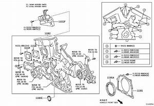 Toyota Sienna Engine Timing Cover  Gear