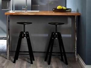 Table Haute Bar Ikea : tabouret noir bar ikea deco salon pinterest cuisine bar et euro ~ Teatrodelosmanantiales.com Idées de Décoration