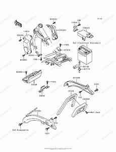 Kawasaki Motorcycle 1995 Oem Parts Diagram For Battery
