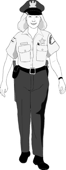 policeman with gun clipart black and white officer clipart free clipart images clipartix