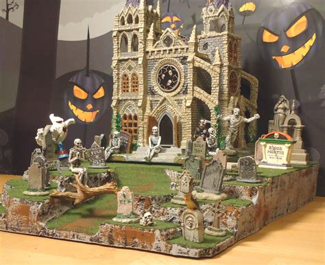 halloween display platform base  dept  snow village