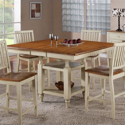 country style table ls steve silver company candice counter dining table with