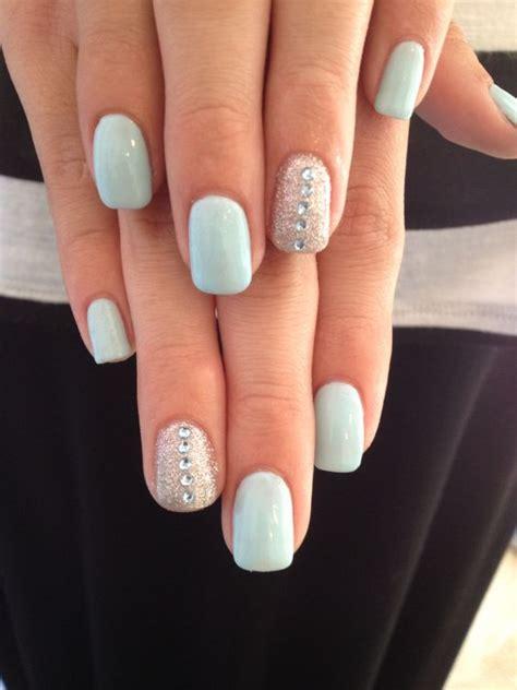 gelnägel glitzer blue gel nails with glitter nails