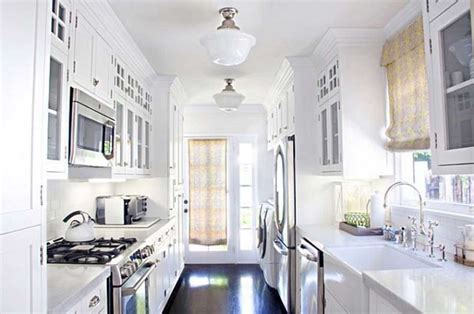 galley style kitchen design ideas awesome white galley kitchen design ideas for your