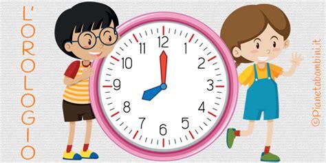 l orologio schede didattiche per la scuola primaria pianetabambini it