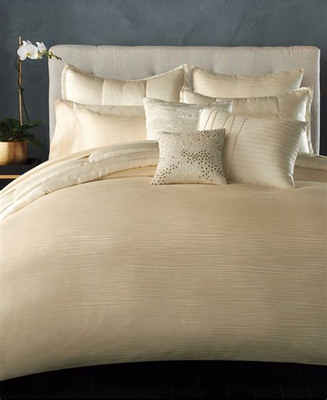 ivory duvet cover king donna karan reflection jacquard stripe king duvet cover